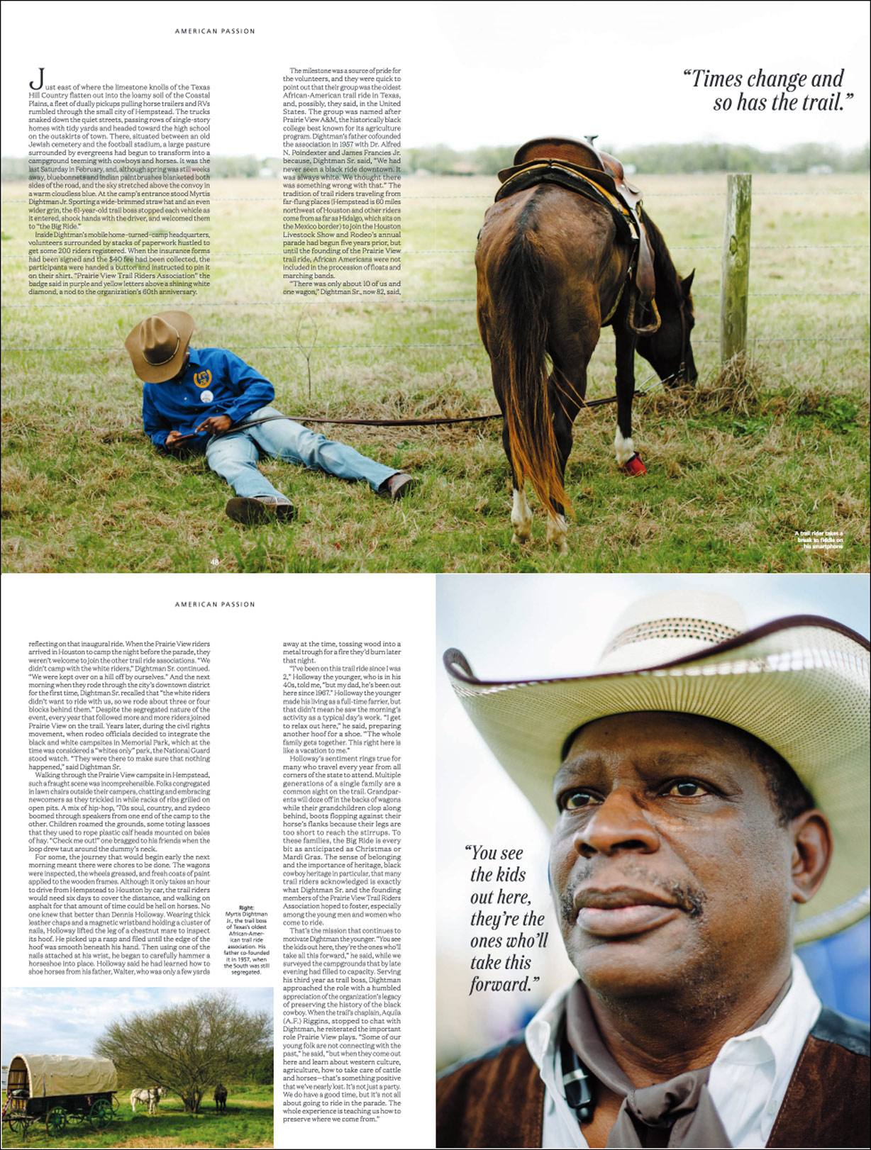Black Cowboys for Amtrak Magazine