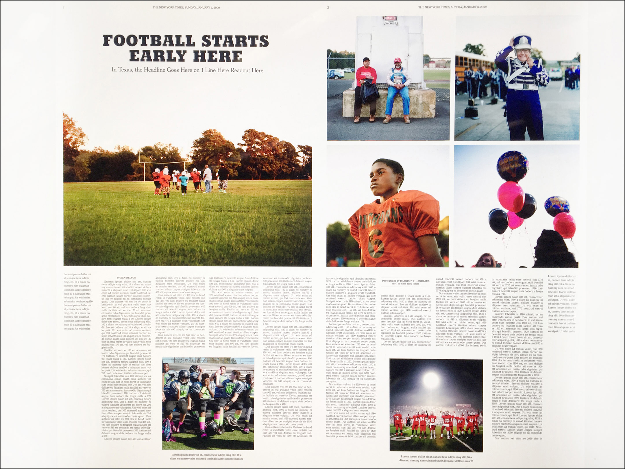 Texas Pee Wee Football for New York Times