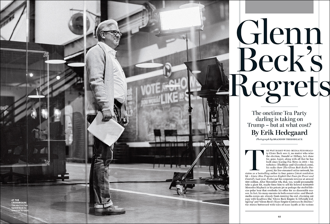Glenn Beck for Rolling Stone Magazine